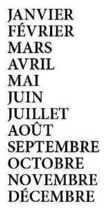 Les mois
